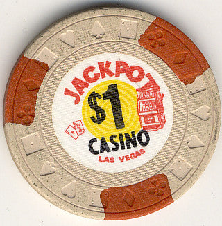 Jackpot $1 beige (3-orange inserts) chip