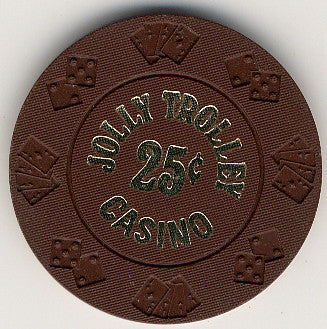 Jolly Trolley Casino 25 (brown) chip