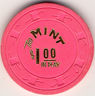 The Mint $1 (bright-pink) chip - Spinettis Gaming - 1