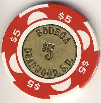 Buffalo Bodega $5 (coin)(red) chip - Spinettis Gaming - 1