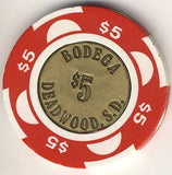 Buffalo Bodega $5 (coin)(red) chip - Spinettis Gaming - 2