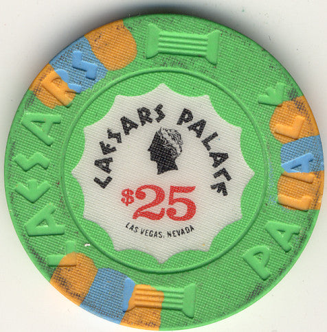 Caesars Palace $25 (green1989) Chip