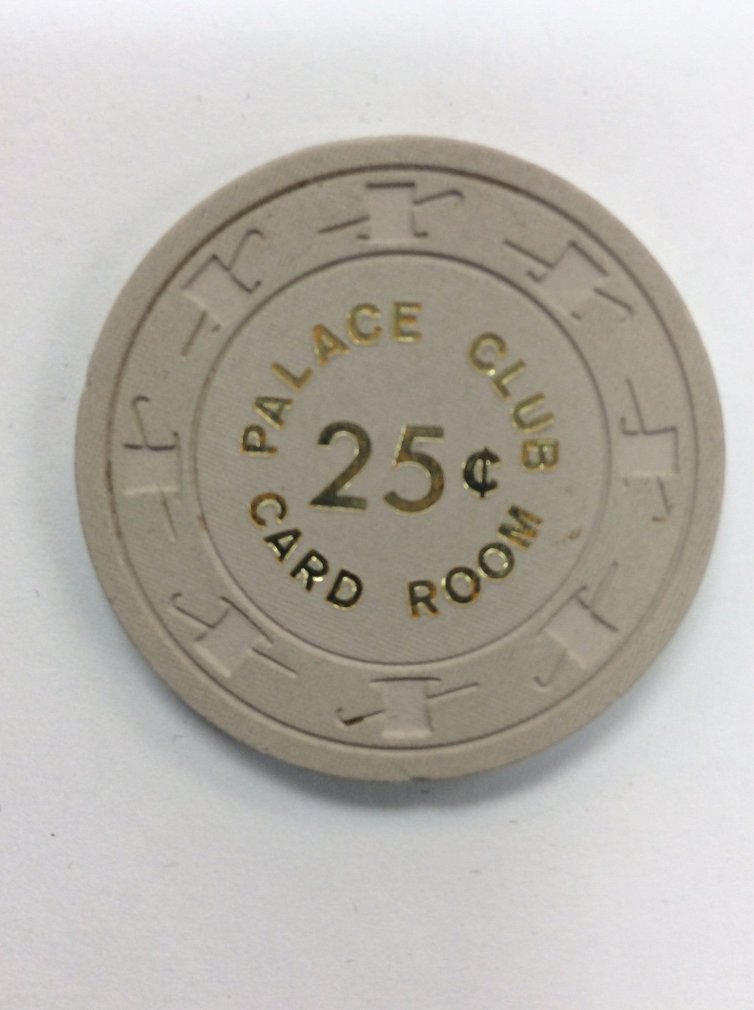 Palace Club 25cent (beige) chip - Spinettis Gaming