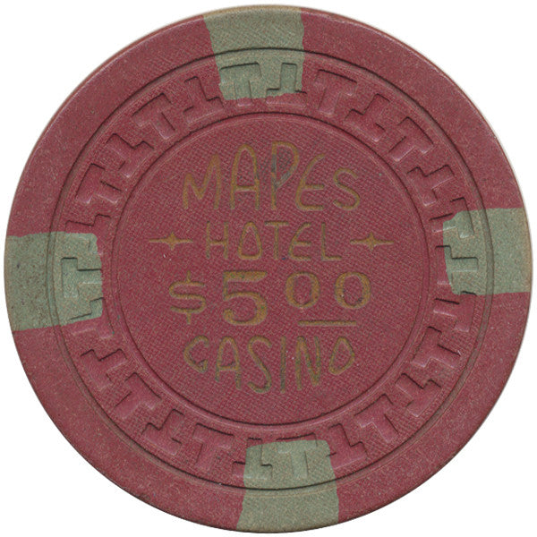 Mapes Casino Reno NV $5 Chip (Brick Red) 1950s