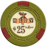 Holiday Casino $25 (green) chip - Spinettis Gaming - 1