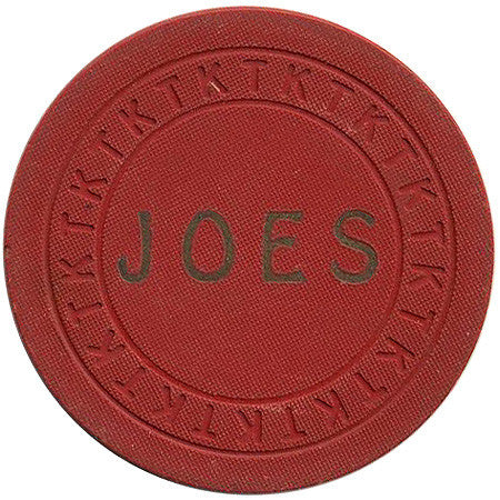 Joe's Casino Hawthorne NV 25 Cent Chip 1942