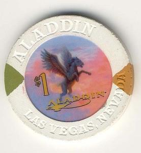 Aladdin Casino $1 (2000) Chip - Spinettis Gaming - 1