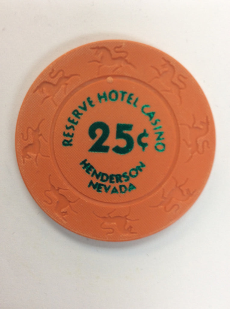 Reserve Casino (orange) 25cent chip