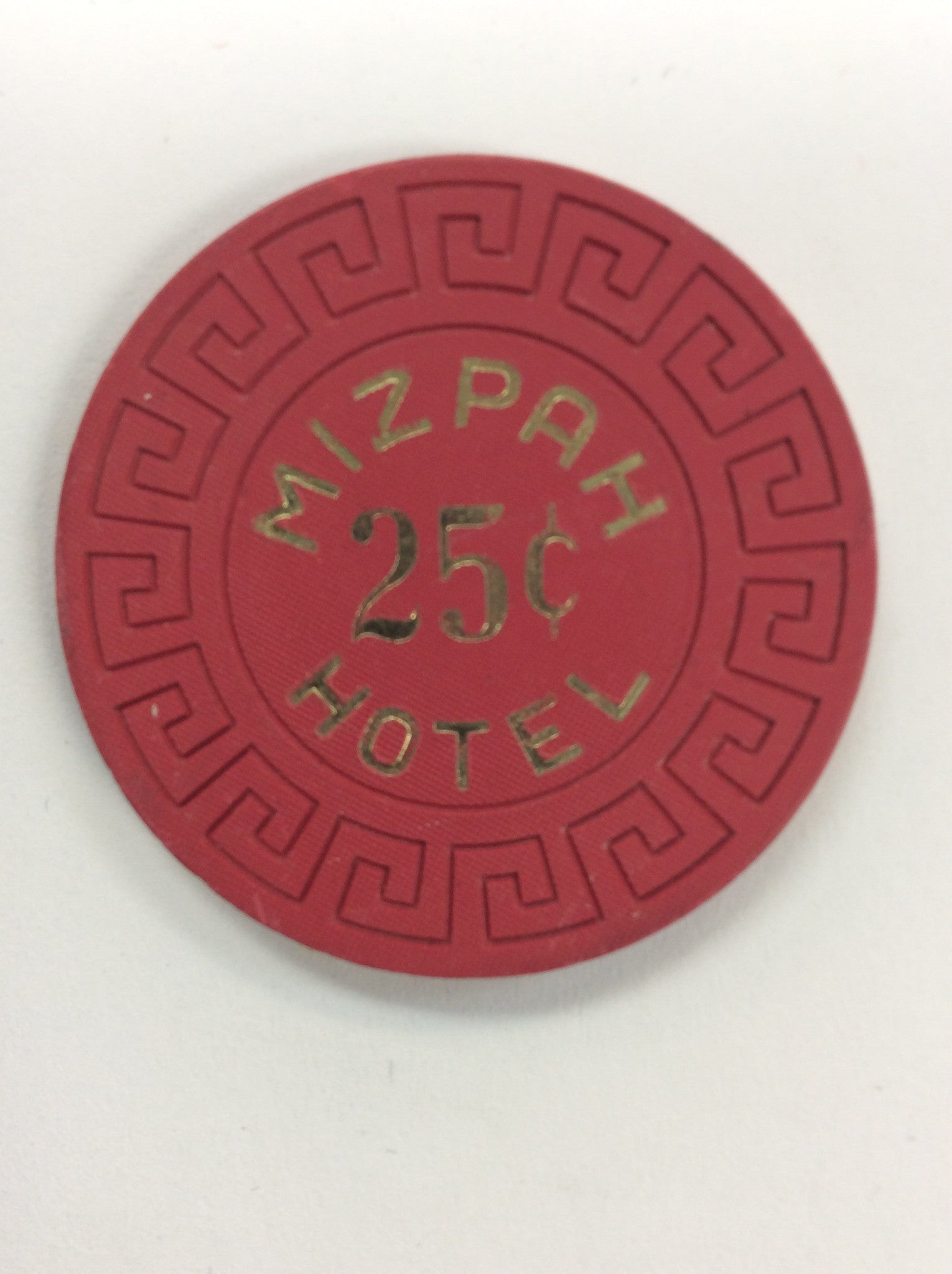 Mizpah Hotel 25cent (red) chip - Spinettis Gaming