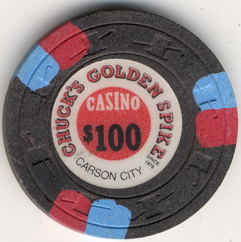 Chuck's Golden Spike $100 Chip - Spinettis Gaming - 1