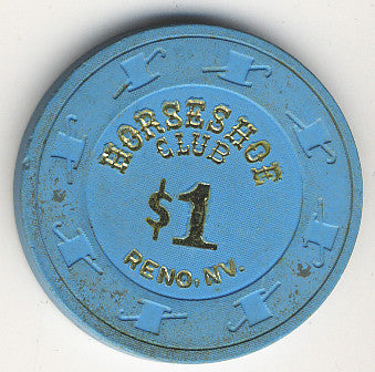 HorseShoe Club $1(blue) chip - Spinettis Gaming - 1