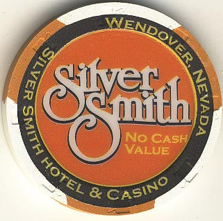 Silver Smith (No Cash Value) (orange) chip - Spinettis Gaming - 1
