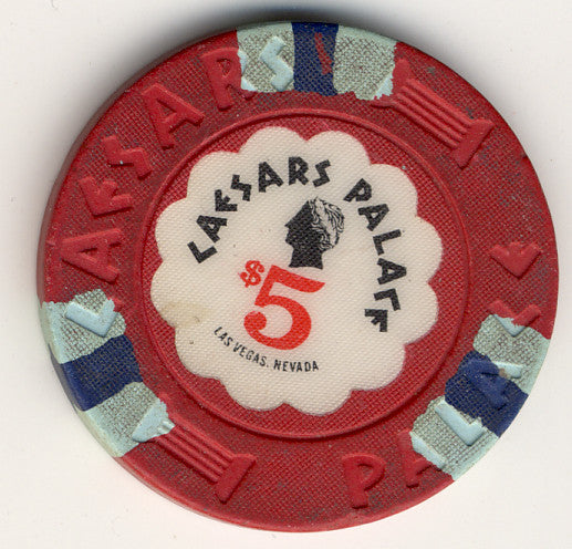 Caesars Palace $5 (red 1989) - Spinettis Gaming - 1