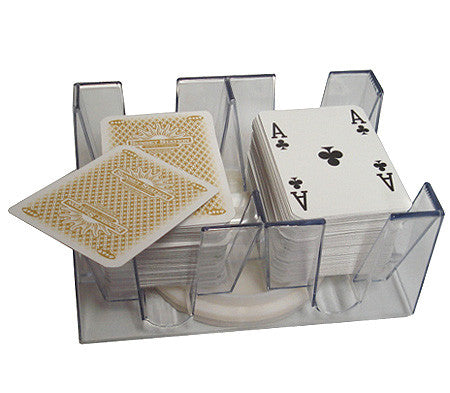 6 Deck Revolving Rotating Canasta Playing Card Tray