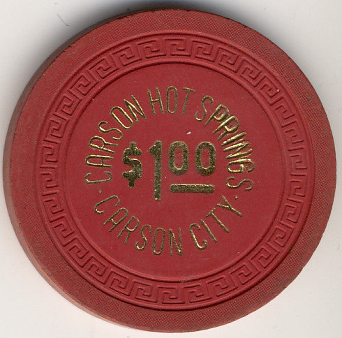 Carson Hot Springs $1 (red 1963) Chip