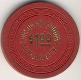Carson Hot Springs $1 (red 1963) Chip - Spinettis Gaming - 2