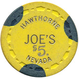Joe's $5 (yellow) chip - Spinettis Gaming - 1