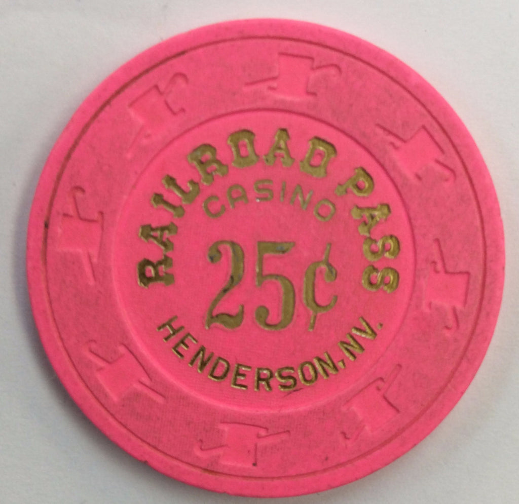 Railroad Pass Casino Henderson NV 25 Cent Chip 1997