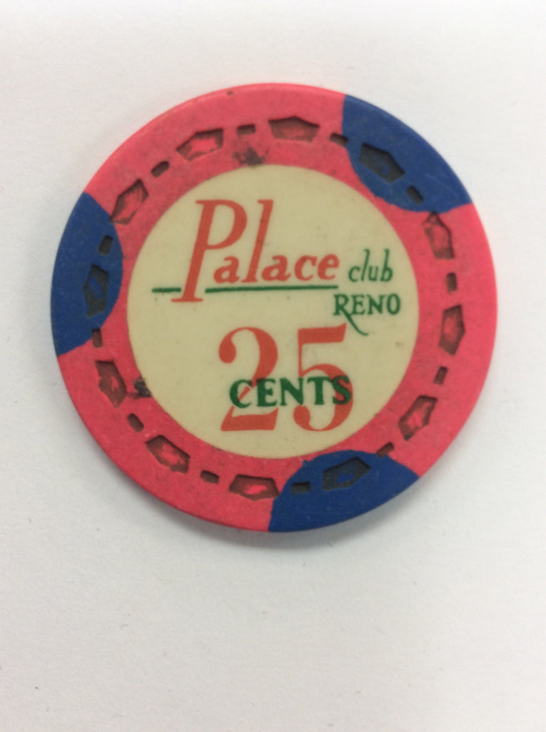 Palace Club 25cent (pink) chip