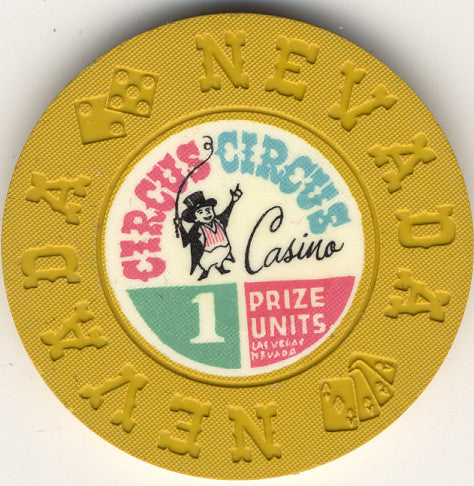 Circus Circus 1 prize unit (mustard 1968) Chip - Spinettis Gaming - 1