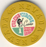 Circus Circus 1 prize unit (mustard 1968) Chip - Spinettis Gaming - 2