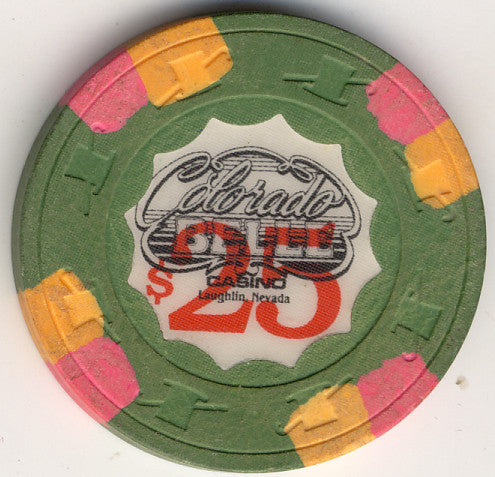 Colorado Belle $25 (green 1980) Chip - Spinettis Gaming - 1