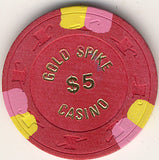 Gold Spike Casino $5 chip - Spinettis Gaming - 1