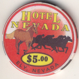 Hotel Nevada $5 (red) chip