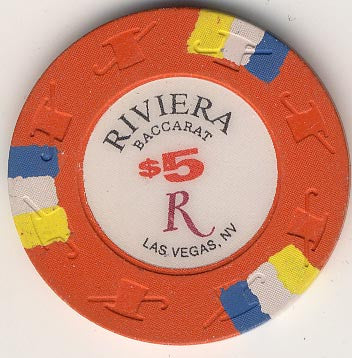 Riviera $5 (Baccarat) chip