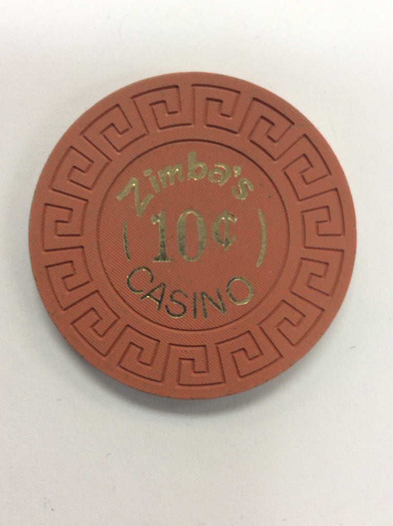 Zimba's Casino Reno 10¢ chip (1971)