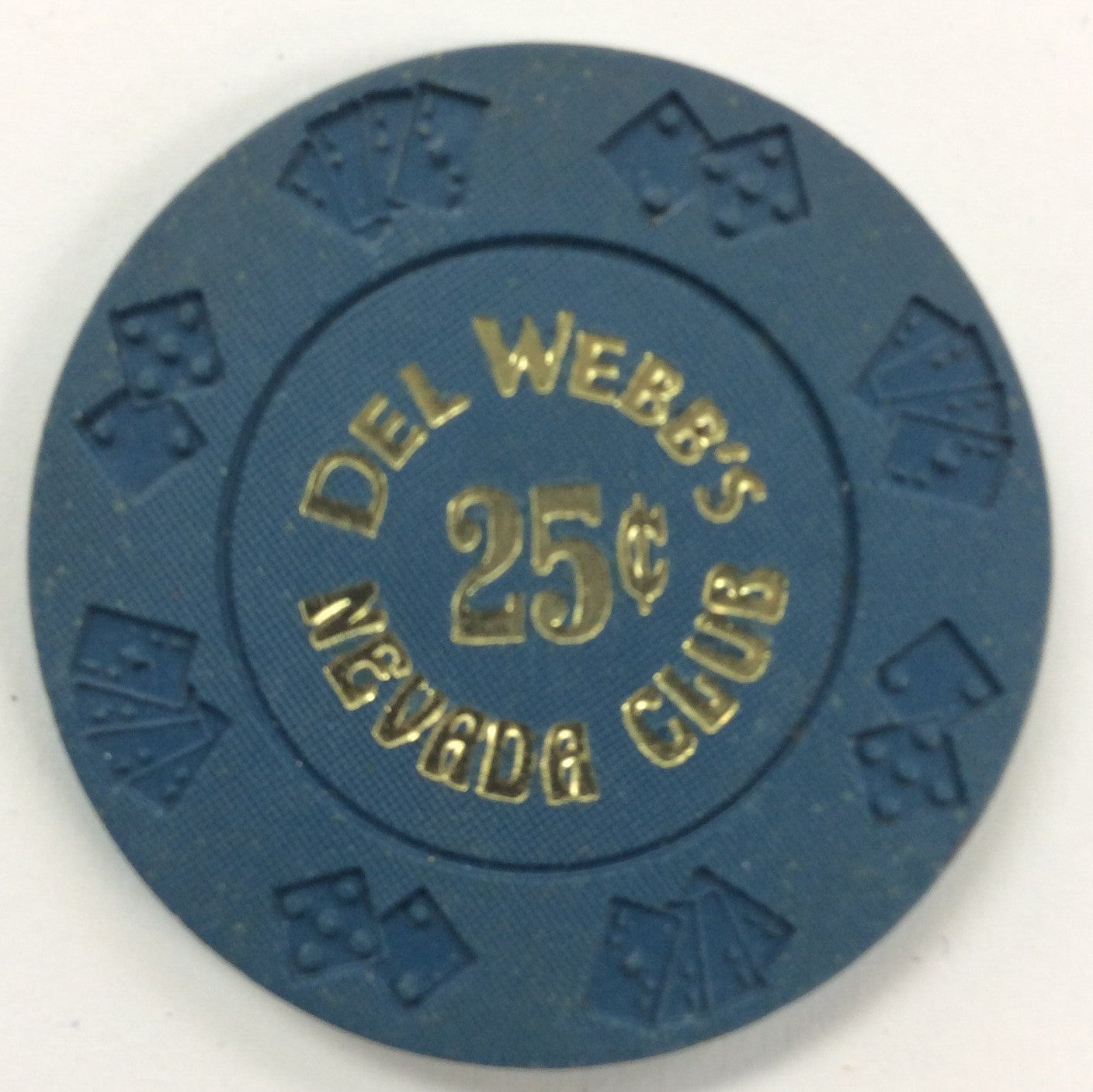 Nevada Club 25cent (blue) chip - Spinettis Gaming