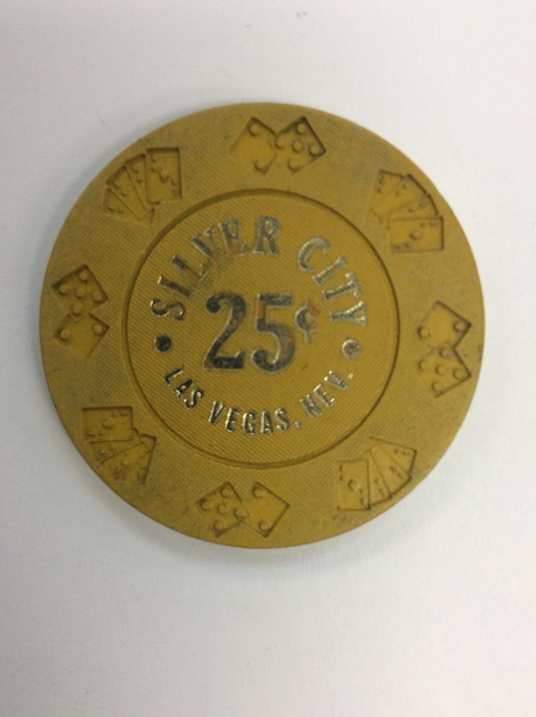 Silver City 25cent (yellow) chip