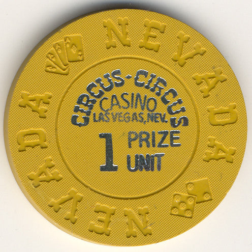 Circus Circus 1 prize unit (mustard 1972) Chip - Spinettis Gaming - 1