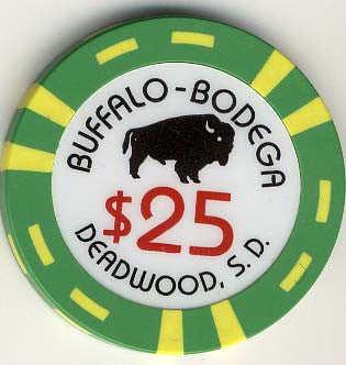 Buffalo Bodega $25 (green) chip
