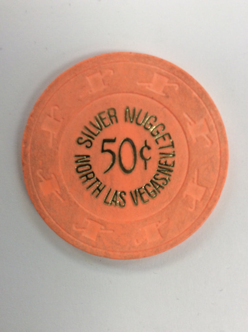Silver Nugget 50cent (orange) chip - Spinettis Gaming