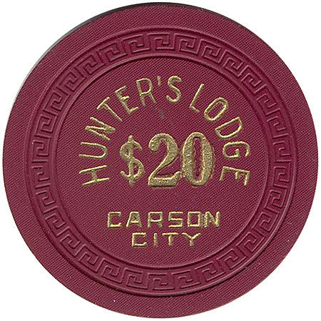 Hunter's Lodge Casino Carson City NV $20 Chip 1958