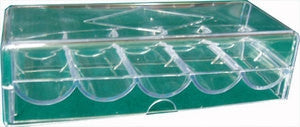 Clear Plastic Tray for 100 chips with Cover - Spinettis Gaming