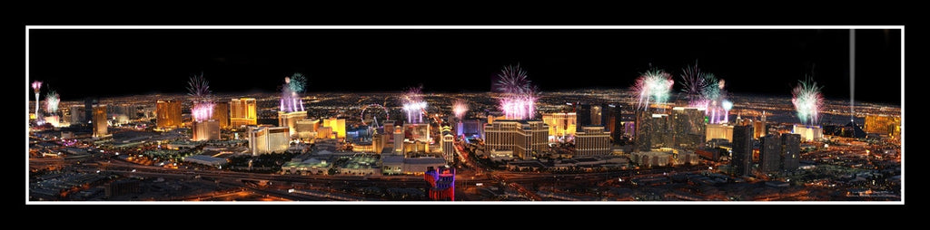 Las Vegas Poster #995 - Helicopter View from the Rio Casino on New Years