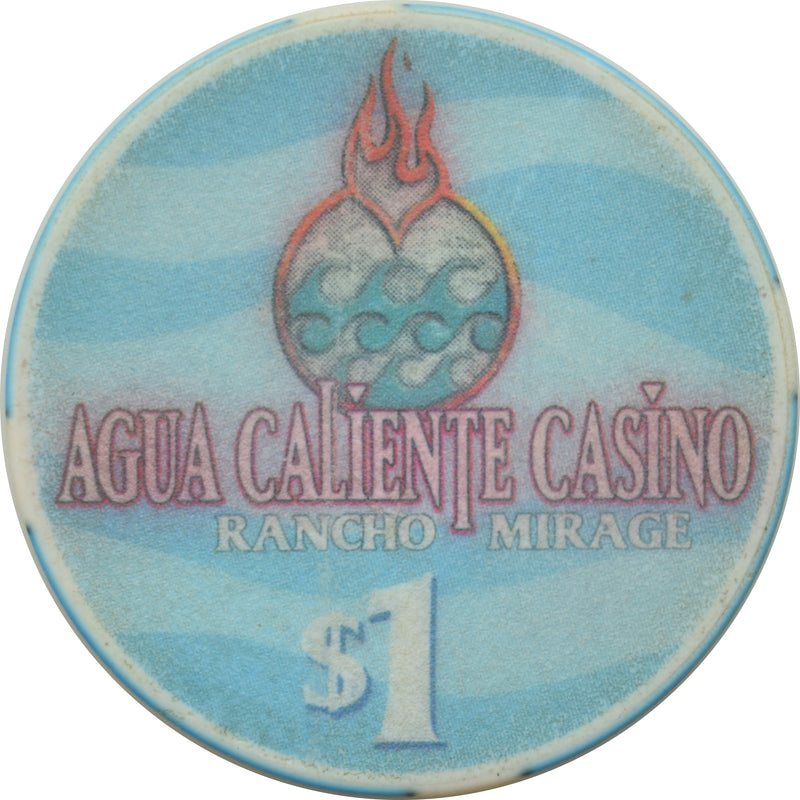 Agua Caliente Casino Rancho Mirage California $1 Chip