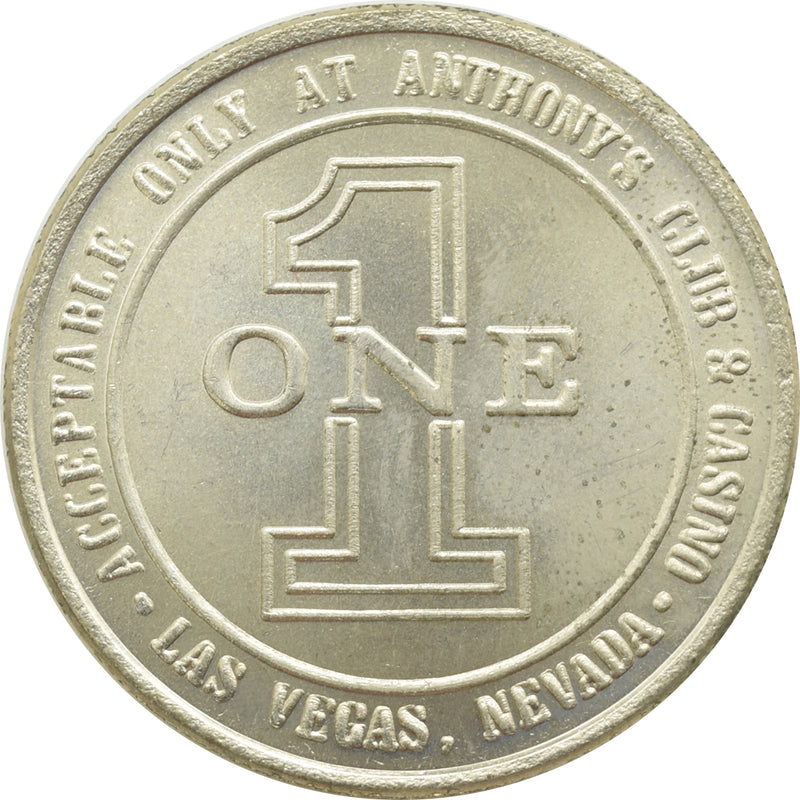 Anthony's Casino Las Vegas NV $1 Token 1989