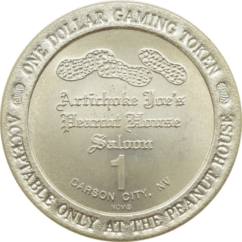 Artichoke Joe's Casino Carson City NV $1 Token 1992