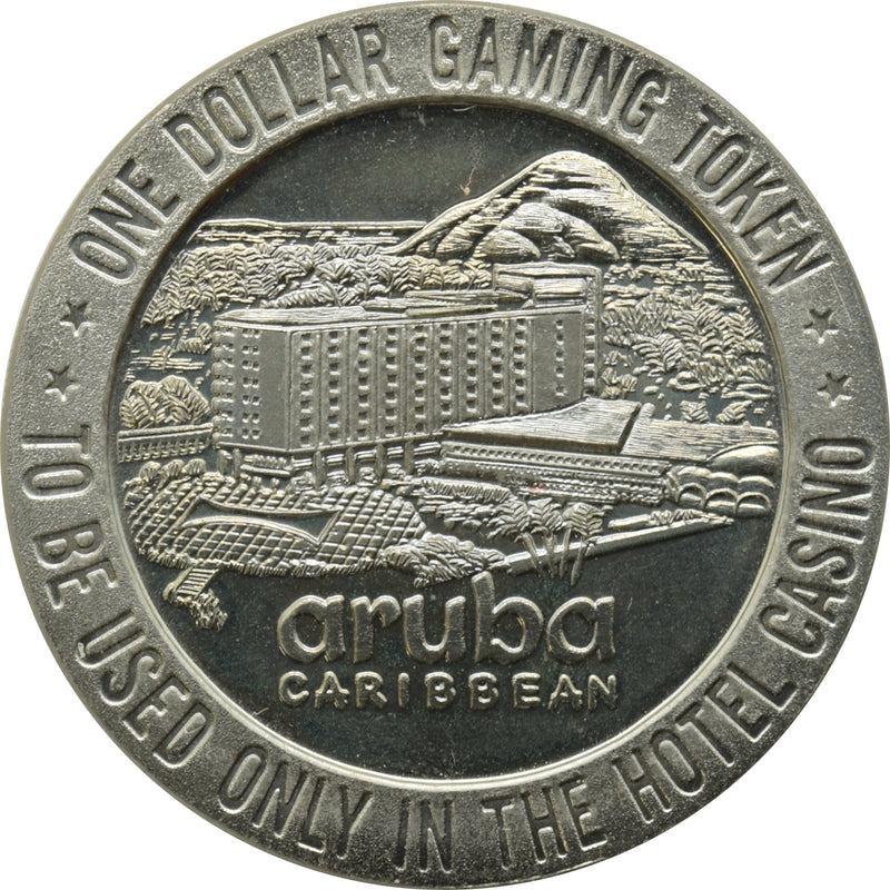 Aruba Caribbean Casino Palm Beach Aruba $1 Token 1966