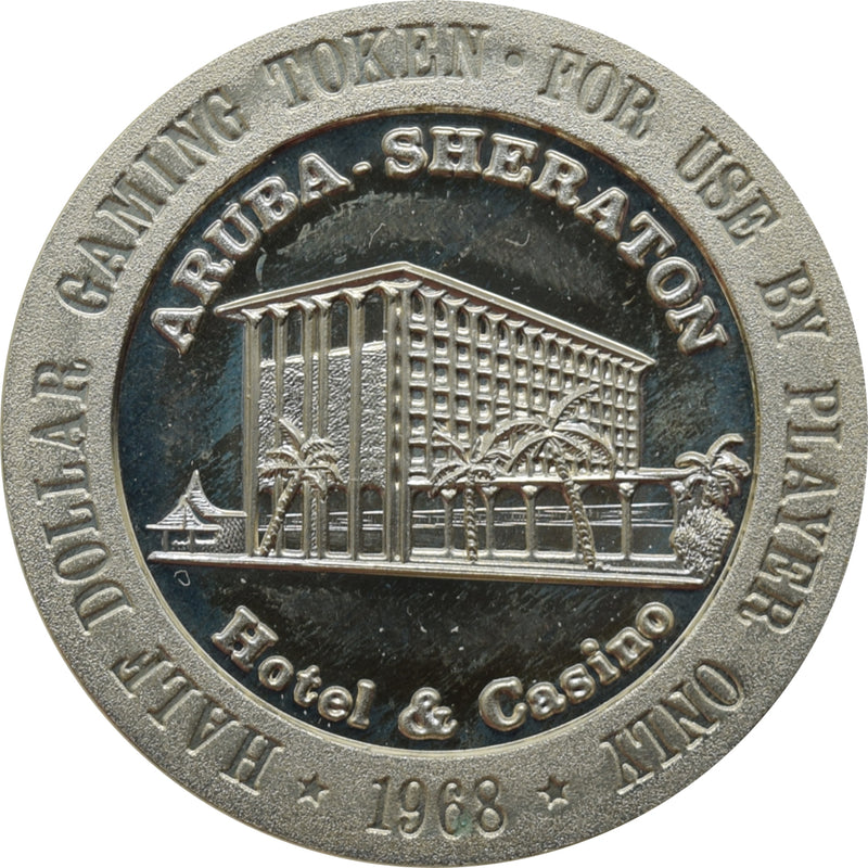 Aruba Sheraton Casino Palm Beach Aruba 50 Cent Token 1968