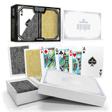 Copag Unique Luxury Black/Gold Poker Size 2 deck setup