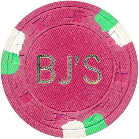 BJ'S Casino $5 (red 1978) Chip - Spinettis Gaming - 1