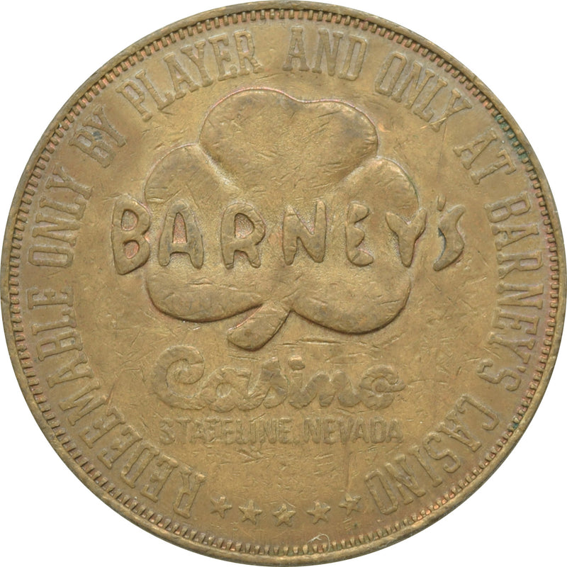 Barney's Casino Lake Tahoe NV $1 Token 1979