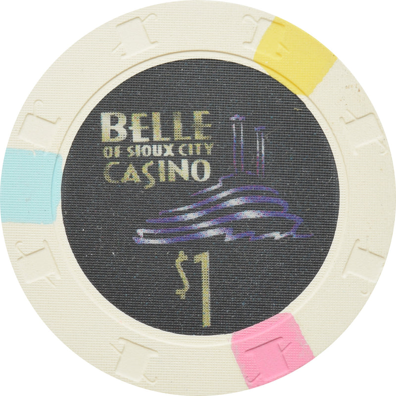 Belle of Sioux City Casino Sioux City IA $1 Chip