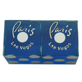 Paris Used Las Vegas Casino Blue Pair of Dice Matching Numbers