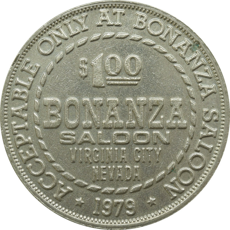 Bonanza Club Casino Virginia City NV $1 Token 1979