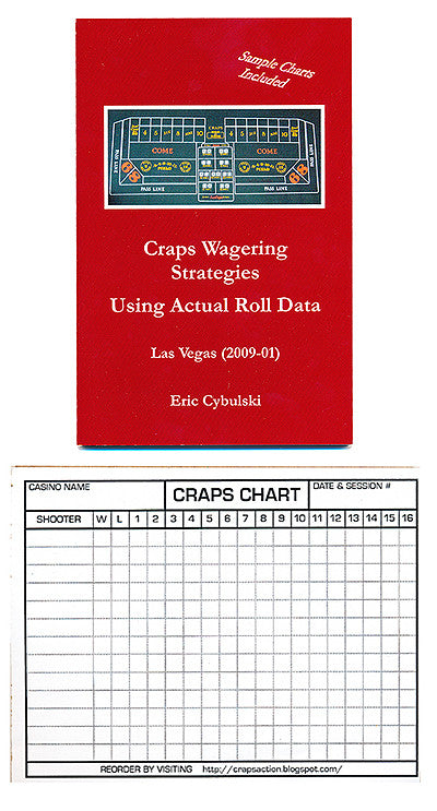 Craps Wagering Strategies Book with Chart